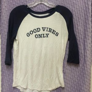 """GOOD VIBES ONLY"" shirt"